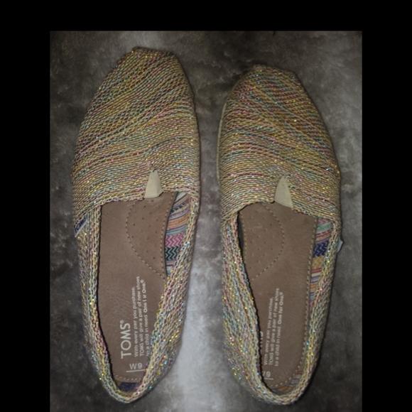 Tom's multicolor burlap women's shoes